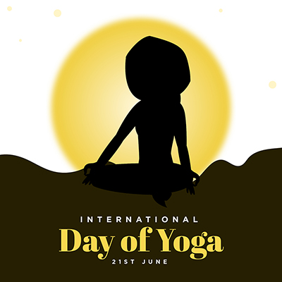 International day of yoga with banner design