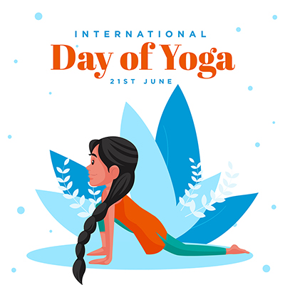 International day of yoga with social media banner