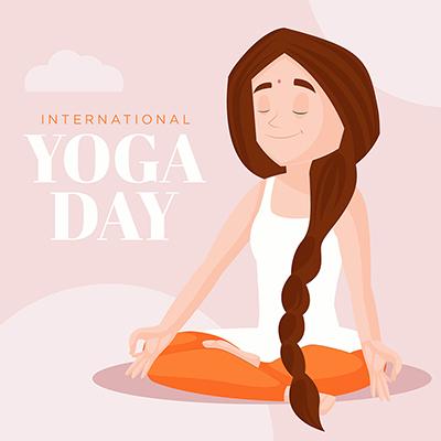 International yoga day banner design template