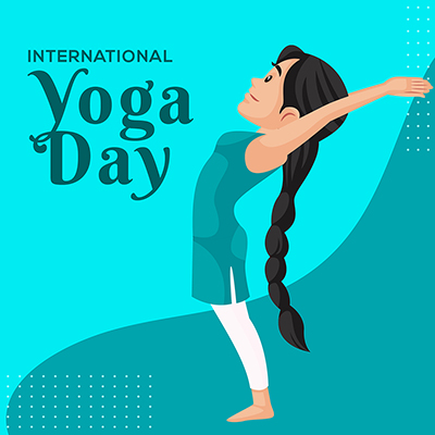 International yoga day illustration social media banner