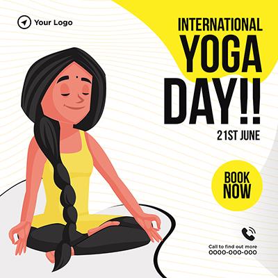 International yoga day on 21st June banner