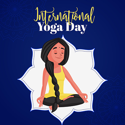 International yoga day special event banner design
