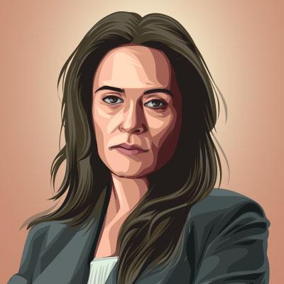 Itziar Ituno Spanish Actress Vector Portrait Illustration