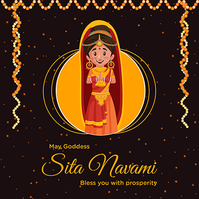 Sita navami may goddess bless you with prosperity banner design -08 small