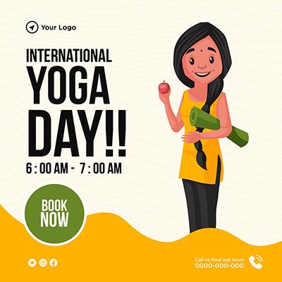 Social media banner design international yoga day