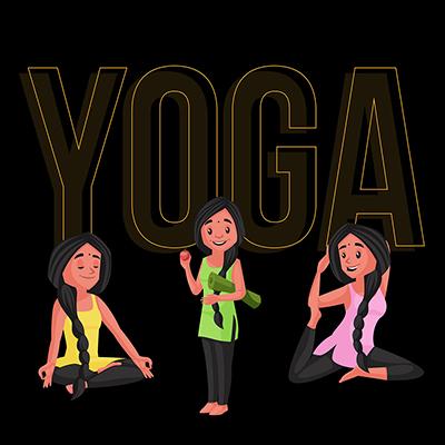 Social media banner for yoga day
