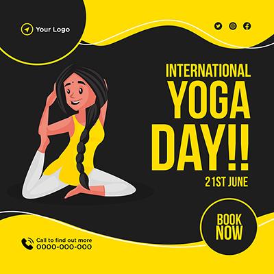 Social media banner international yoga day