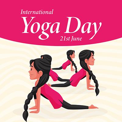 Social media banner of international yoga day