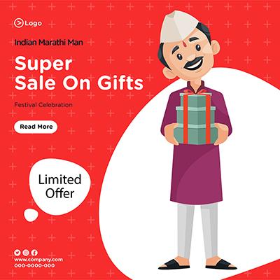 Super sale on gifts banner design