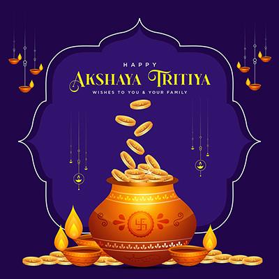 Traditional festival happy akshaya tritiya banner design