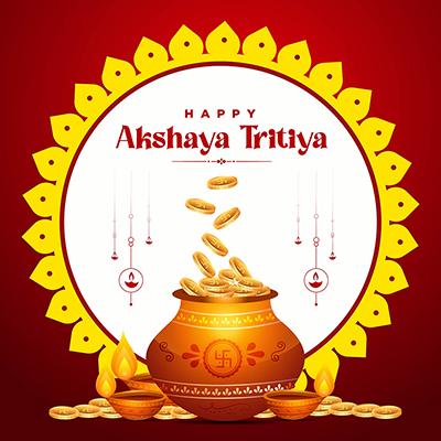 Traditional festival happy akshaya tritiya banner template