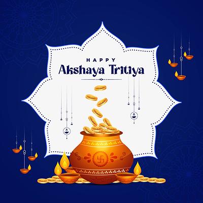 Traditional festival happy akshaya tritiya banner template design