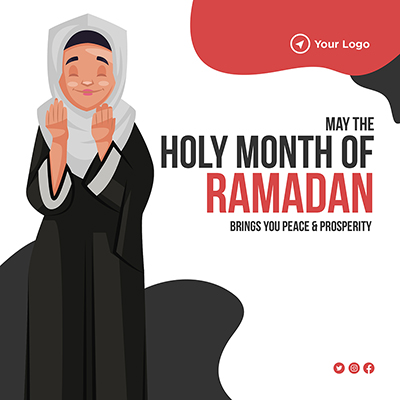 Banner design holy month of Ramadan give you peace and prosperity