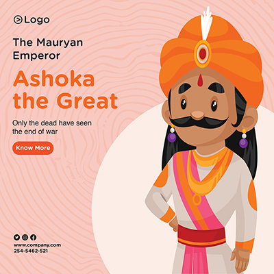 Ashoka the great with template banner