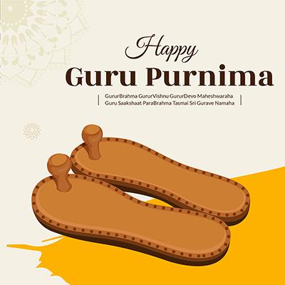 Banner design for happy guru purnima