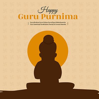 Banner design happy guru purnima