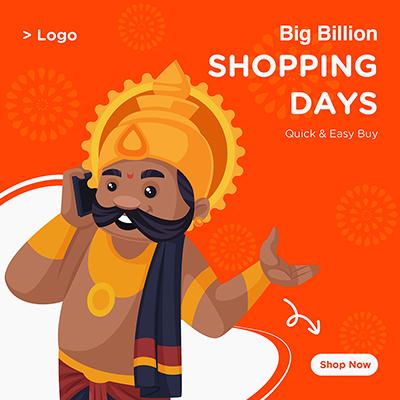 Banner design with big billion shopping days