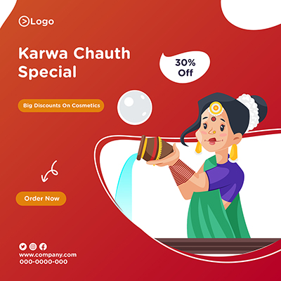 Banner template for karwa chauth special