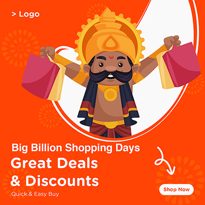 Banner template of great deals and discounts