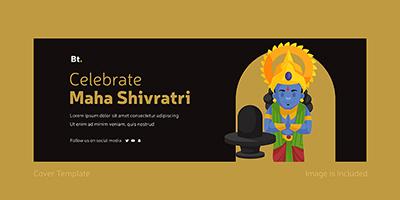Cover page template of celebrate maha Shivratri