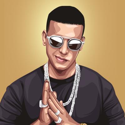 Daddy Yankee Puerto Rican Singer Vector Portrait Illustration