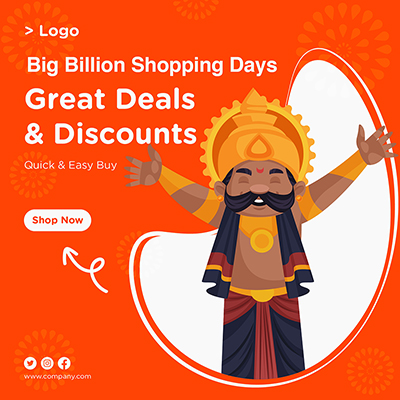Great deals and discounts banner template
