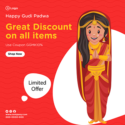 Great discount on all items banner template