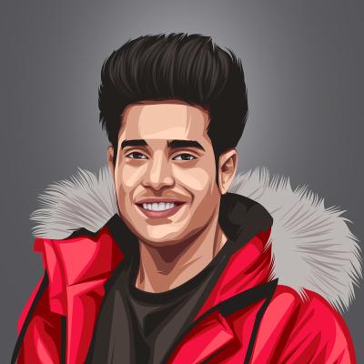 Guri Khattra Musical Artist Vector Portrait Illustration