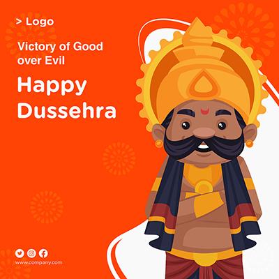 Happy Dussehra with banner design