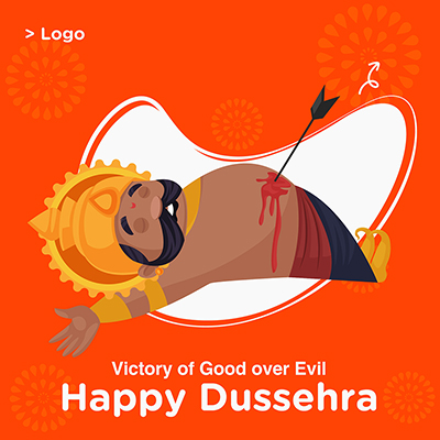 Happy Dussehra with template banner