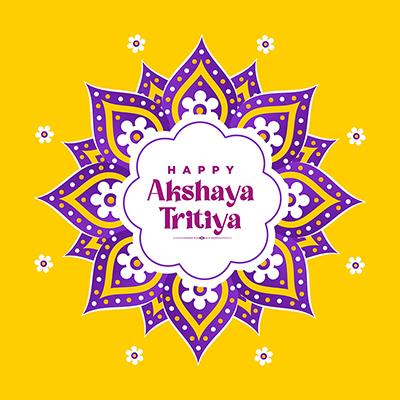 Happy Akshaya Tritiya Indian festival template banner