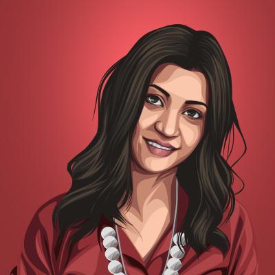 Konkona Sen Sharma Indian Actress & Celebrity Vector Illustration