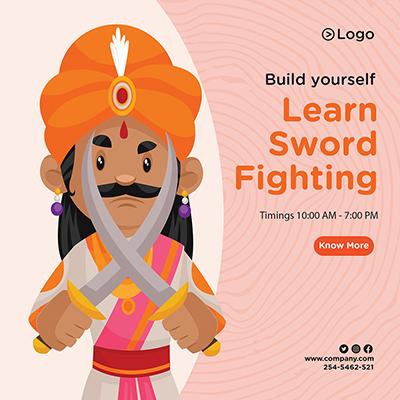 Learn sword fighting banner design