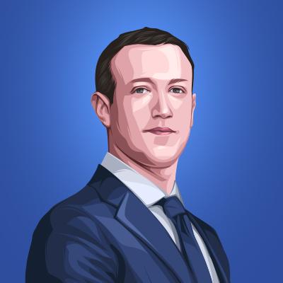 Mark Zuckerberg Chief Executive Officer of Facebook Vector Illustration