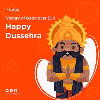 Social media banner design Happy Dussehra