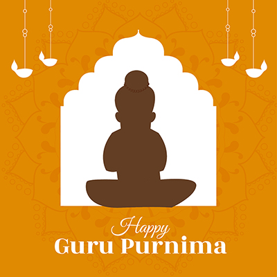 Social media banner of happy guru purnima