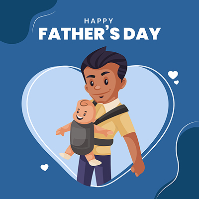 Template banner for happy father's day -14 small