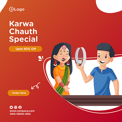 Template banner for karwa chauth special