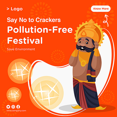 Template banner for pollution free festival