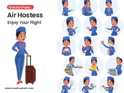 Air Hostess- Enjoy Your Flight Vector Bundle