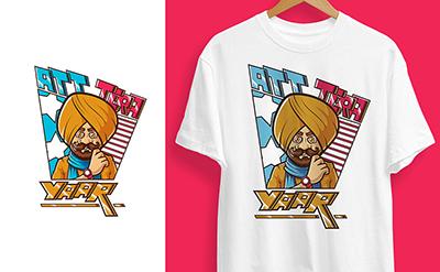 Att tera yaar t-shirt design illustration