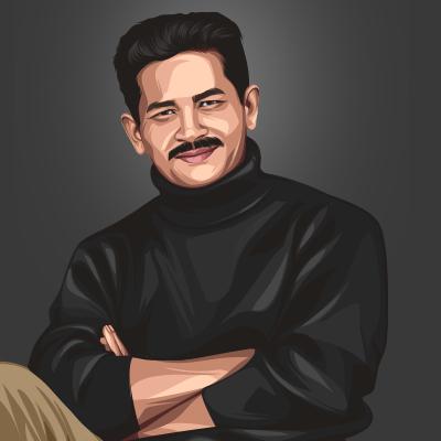 Atul Kulkarni Indian Actor Vector Portrait Illustration