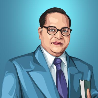 B. R. Ambedkar Vector Illustration Thumbnail-Small
