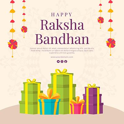 Banner design for happy raksha bandhan template
