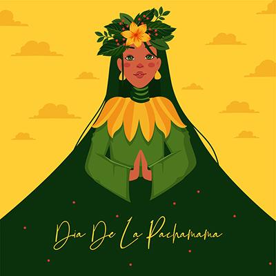 Banner template design for dia de la pachamama
