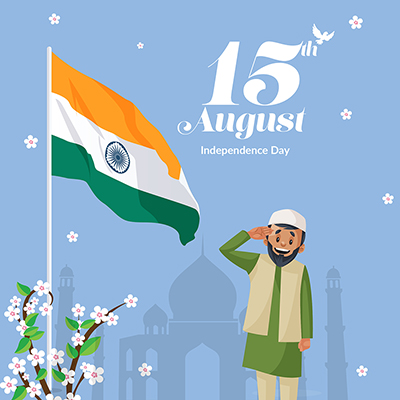 Banner template independence day on 15 august