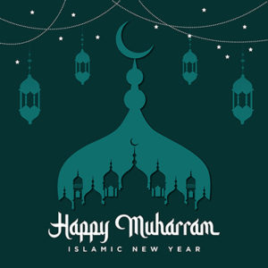 Banner template of happy muharram Islamic new year -06 small