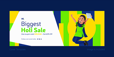Biggest holi sale with cover template