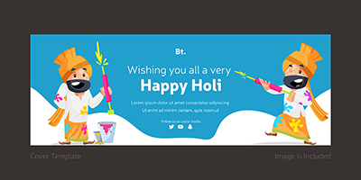 Cover page template for happy holi