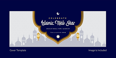 Cover page template of Islamic new year